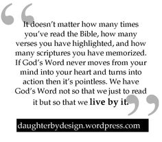 When reading the Bible is pointless...