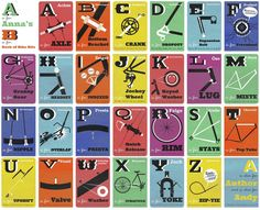 The Bicycle Alphabet  http://www.letmebike.eu/blog/the-bicycle-alphabet/