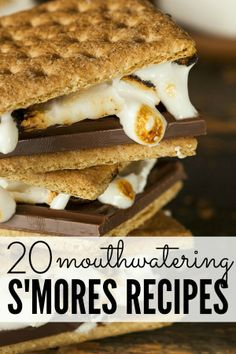 If you love s'mores, you will love this list of 20 mouthwatering s'mores-inspired recipes! (Warning: I gained 10 lbs in both thighs just by LOOKING at the pictures!)