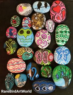 My Painted Rock Friends