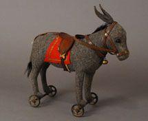 antique steiff donkey pull toy