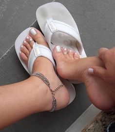 Anklets Nice feet by anklet Sexy Sandals, Cute Sandals, Bare Foot Sandals, Nice Toes, Pretty Toes, Feet Soles, Women's Feet, Foot Socks, Beautiful Toes