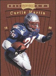 1996 Playoff Prime - Boss Hogs #1 Curtis Martin Front