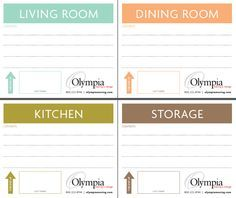 Olympia offers free printable moving box labels to their clients, or anyone who's moving. These pretty labels may even motivate you to keep packing! Moving Costs, Moving Day, Moving Tips, Moving House, Moving Hacks, Printable Labels, Free Printables, Labels Free, Blank Labels