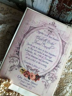 Romantic Vintage Wedding Invitation Suite by AVintageObsession