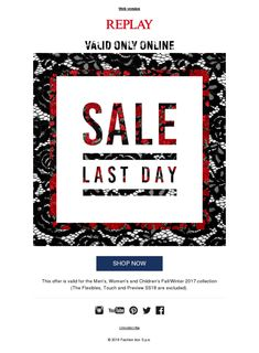 Replay Sales Last Day! Make the Most of Them While They Last!