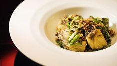 Fried Barramundi with Roast Chilli & Herb Salad