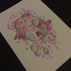 Chansey available  #pokemontattoo #pokemon #chansey #chanseypokemon #pink #pinkpokemon #watercolourtattoo #watercolour #painting #designs #sakuratattoo #tattooed #tattoo #tattoos #tattooart #tattooing #nursechansey #gamertattoo #art #ladytattooer
