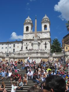 Spanish Steps-wish I first went to Rome while backpacking around Europe but I actually went with my Latin class in 1972-the trip convinced me to study languages because I met other 15-year-olds who spoke Italian French German and English! Put me to shame hahaha