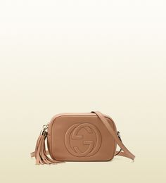 GUCCI soho leather disco bag (rose beige leather) $980