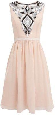 Love this baller pink Art deco dress