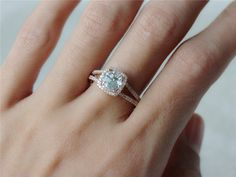 New Design 6.5mm Natural Aquamarine14k Rose Gold Pave Diamonds Engagement Ring Wedding Ring Anniversary Ring Idea Gift For Her Birthstone