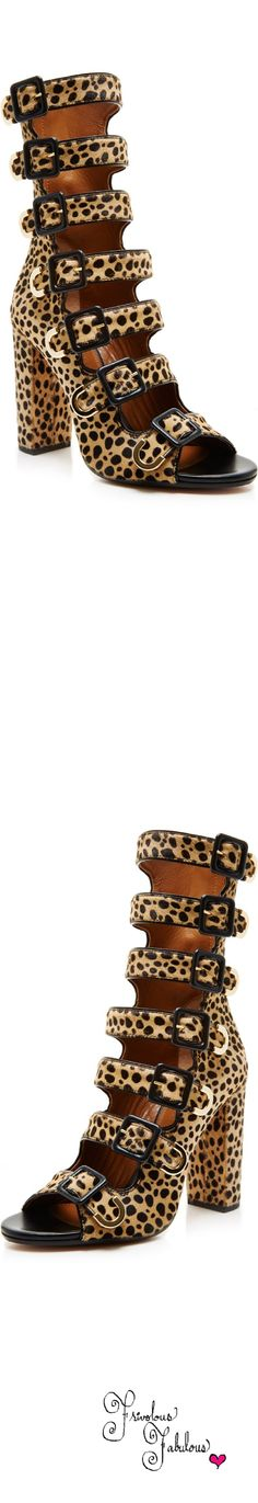 Frivolous Fabulous - Aquazzura Calf Hair Leopard Print Buckle Ankle Boots Pre Fall 2015