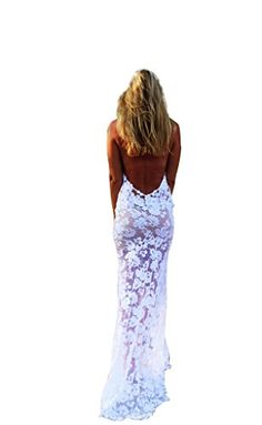 Wedding Dresses - Sisjuly womens Sexy Backless Lace Mermaid Gowns Beach Wedding Dress -- Read more reviews of the product by visiting the link on the image.