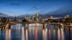 Popular on 500px : Frankfurt Skyline by XpReS