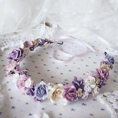 Купить Венок на голову Purple - сиреневый, сирень, лавандовый, венок из цветов, венок на голову