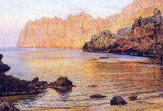 """Pintura a Mallorca : Joan Fuster Bonnín (b. Palma, 1870) - """"Cala Llum"""""""