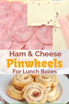 These easy Ham and Cheese Pinwheels take just five minutes to prep and are perfect for snacks and lunch boxes. Healthy Toddler Meals, Easy Meals For Kids, Toddler Food, Kids Meals Ideas, Easy Kids Lunches, Lunch Ideas For Toddlers, Kids Cooking Recipes Easy, Easy Recipes For Kids, Healthy Snacks For Toddlers