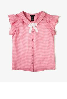 Checkered Bow Blouse (Kids) | FOREVER21 girls - 2045710869