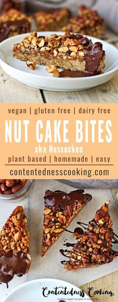 Here is a vegan cake recipe that isn't exactly a cake. My Vegan Nut Cake Bites are inspired by what is known as 'Nussecken' in Germany. This is a real stunner out of my vegan bakery and you will love it the moment you try. Easy steps until you enjoy this