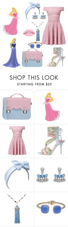 """Once Upon A Dream"" by taylortot-a ❤ liked on Polyvore featuring La Cartella, WALL, Alexander McQueen, Sophia Webster, Beauxoxo, Henri Bendel, MUNNU The Gem Palace, Eloquii, L.A. Girl and disney"