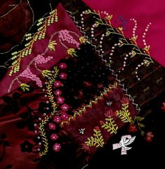 ...crazy quilt stitching