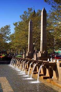 Fountains in Copley Square #CopleySquare #Boston #AmesBoston