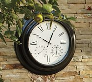 For The Patio Outdoor Clock, Outdoor Walls, Outdoor Living, Patio Yard  Ideas,