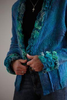 Ninas Fiber Arts - One of a kind, hand made felted clothing, interior accents, felted birds, nuno felt