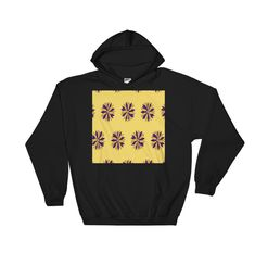 Buy unique print-on-demand products from independent artists worldwide or sell your own designs at the drop of an image! Hoodies, Sweatshirts, Online Printing, Yellow, Colors, Floral, Stuff To Buy, Design, Fashion