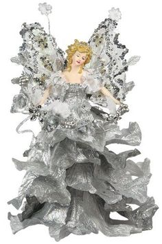 """10"""" Attractive Christmas Holiday Casablanca Angel Tree Topper - Silver A01055 by Angel Tree Topper, http://www.amazon.com/dp/B006J7T7WA/ref=cm_sw_r_pi_dp_dYK1rb1JAYCHJ"""