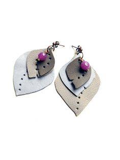 leather earrings Boccafogli