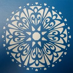 Doily Stencil 01 by kraftkutz on Etsy