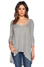 Sunset Park Top in Heather Grey