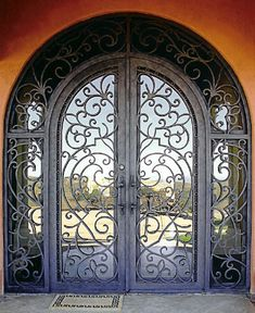 Wrought Iron Doors....I would love these for my home