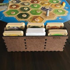 Card Holder for Resource and Development Cards Settlers of Settlers Of Catan, The Settlers, Names Of Games, Catan Board Game, Board Game Pieces, Plastic Organizer, Game Room Decor, Card Storage, Group Games