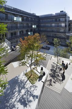 Works / 東京工芸大学 中野キャンパス - オンサイト計画設計事務所 Plaza Design, Loft Office, Light Well, Commercial Architecture, Landscape Architecture, Landscape Designs, Park, Urban Design, Terrace
