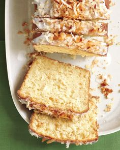 anything with coconut is my fav. yummers!  Coconut-Buttermilk Pound Cake