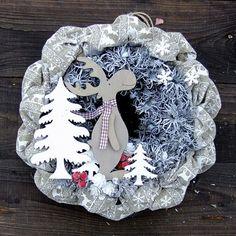 Vánoční věnec - Sobík v lese