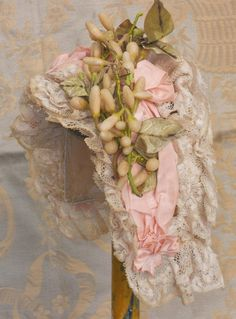 ~~~ Most Beautiful French Bebe Silk Costume with Lace Bonnet ~~~ from whendreamscometrue on Ruby Lane