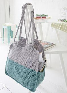 DIY Anleitung: Einkaufstasche häkeln // DIy tutorial: how to crochet a shopping bag via DaWanda.com