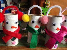 Bricolage de Noël en rouleau de papier toilette