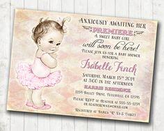 Shabby Chic Ballerina Baby Shower Invitation For Girl  by jjMcBean, $23.00