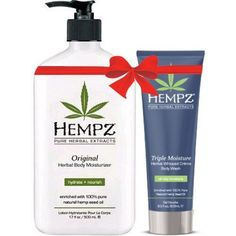 Hempz Original Herbal Body Moisturizer 17 Oz and Triple Moisture Herbal Whipped Creme Body Wash 85 Oz Bundle >>> Check this awesome product by going to the link at the image.