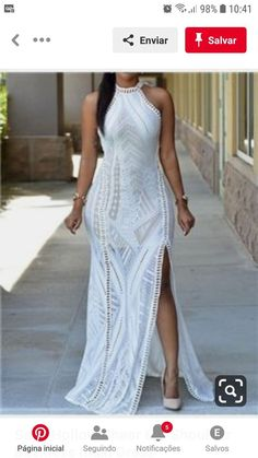 Sexy White Lace Nude Illusion Key-Hole Back Maxi Dress Cheap Maxi Dresses, Backless Maxi Dresses, Maxi Robes, White Sleeveless Dress, Plus Size Maxi Dresses, White Maxi Dresses, Elegant Dresses, Dresses For Sale, Fitted Dresses