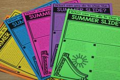 It's a FREEBIE! Summer Slide parent flier!