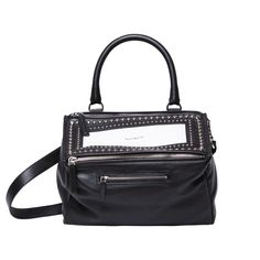 GIVENCHY Black and White Pandora Bag | Womens Bags