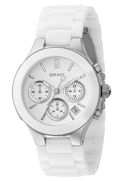 DKNY 'Chambers' Ceramic Chronograph Bracelet Watch, 39mm available at #Nordstrom