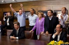 g8 leaders watching the champions league finals