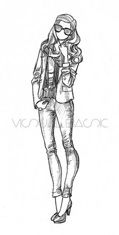 sketches of fashion bloggers -